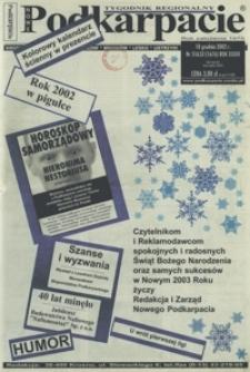 Nowe Podkarpacie : tygodnik regionalny. - R. 33, nr 51/52 (18 grudz. 2002) = 1676