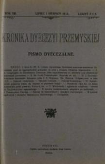 Kronika Dyecezyi Przemyskiej : pismo dyecezalne. - R. 12, z. 7/8 (lip./sierp. 1912)