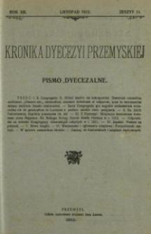 Kronika Dyecezyi Przemyskiej : pismo dyecezalne. - R. 12, z. 11 (list. 1912)