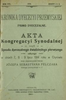 Kronika Dyecezyi Przemyskiej : pismo dyecezalne. - R. 16, z. 3/4 (1916)