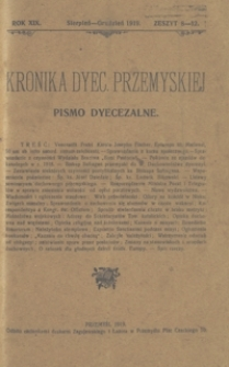 Kronika Dyecezyi Przemyskiej : pismo dyecezalne. - R. 19, z. 8/12 (sierp./grudz. 1919)