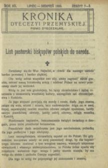 Kronika Diecezji Przemyskiej : pismo diecezjalne. - R. 22, z. 7/8 (lip./sierp. 1922)