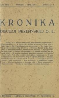 Kronika Diecezji Przemyskiej o[brządku] ł[acińskiego]. - R. 26, z. 3/5 (marz./maj 1926)