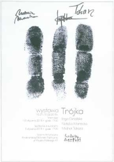 Trójka [Afisz] : wystawa