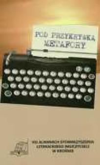 Pod przykrywką metafory : VII almanach literacki