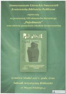 """Prezentacja VIII almanachu literackiego """"Pojednanie"""" oraz zbiorów poetyckich członków Stowarzyszenia [Literackiego Nauczycieli]] [Afisz]"""