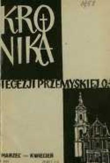 Kronika Diecezji Przemyskiej o[brządku] ł[acińskiego]. - R. 44, z. 3/4 (marz./kwiec. 1958)
