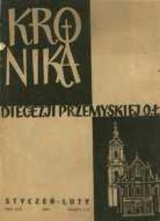 Kronika Diecezji Przemyskiej : pismo diecezjalne. - R. 45, z. 1/2 (stycz./luty 1959)