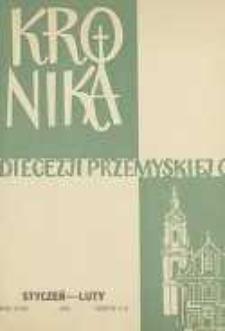 Kronika Diecezji Przemyskiej : pismo diecezjalne. - R. 47, z. 1/2 (stycz./luty 1961)