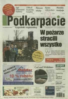 Nowe Podkarpacie : tygodnik regionalny. - R. 45, nr 51 (17 grudz. 2014) = 2290