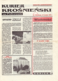 Kurier Krośnieński : Nowe Podkarpacie : dodatek samorządowy. - 1993, nr 9 (29 wrzes.) = 26