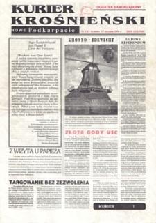 Kurier Krośnieński : Nowe Podkarpacie : dodatek samorządowy. - 1996, nr 1 (17 stycz.) = 53