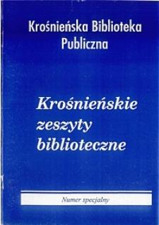 Krośnieńskie Zeszyty Biblioteczne. - Nr specjalny (2003)